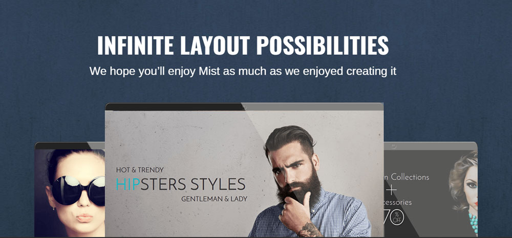 Mist layout WordPress theme