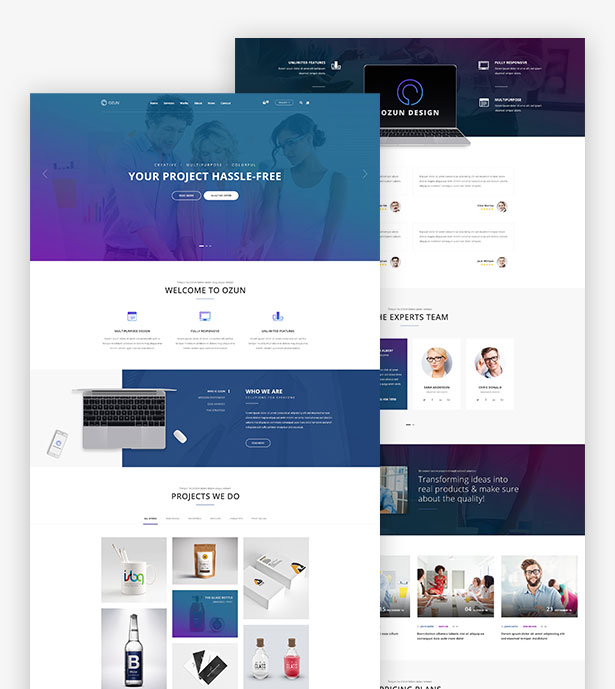 OZUN high-performance WordPress theme